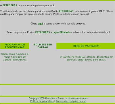 Falso E-mail da Petrobras