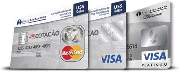 Cartão de Viagem do Banco Rendimento
