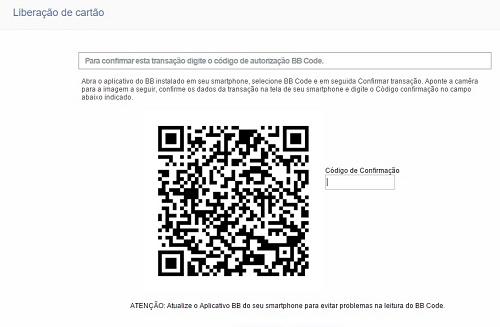 Uso do BB Code para desbloquear seu cartão