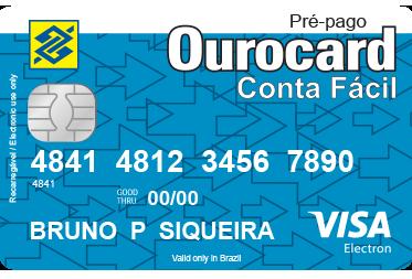 Cartão Pré-Pago Conta Fácil do Banco do Brasil